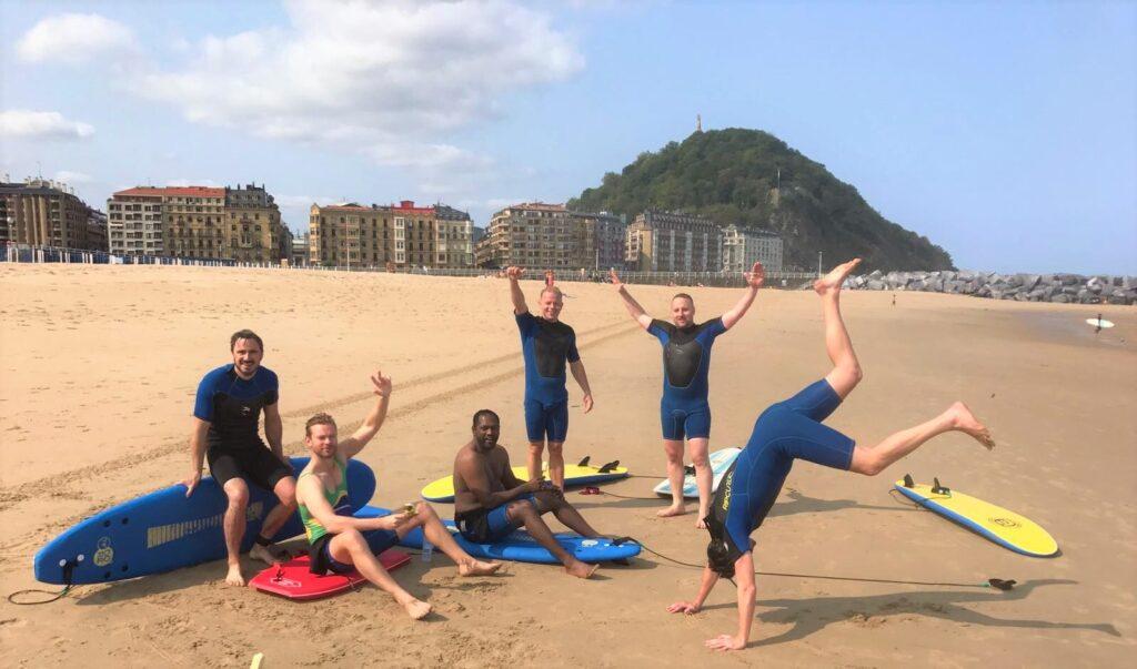 San Sebastian surf lesson