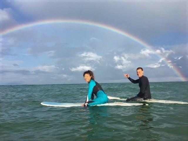 San Sebastian surf rainbow