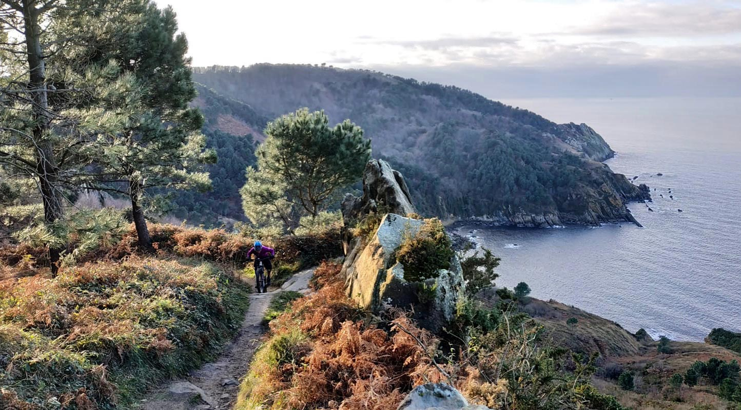 Basque country single track coastal trail